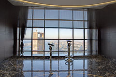 Observation Deck in Etihad Tower, Abu Dhabi Stock Image