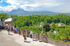 Observation deck of fortress Hohensalzburg, Salzburg Stock Photo