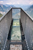 Observation deck. In hugh mountains Alps Austria royalty free stock image