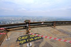Observation Deck at the Kuala Lumpur Tower Stock Images
