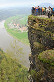 Observation deck is located at an altitude of 193 meters, May 1, 2013, Saxon Switzerland, Royalty Free Stock Photos