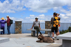 Observation Deck Mount Mitchell North Carolina Stock Photo