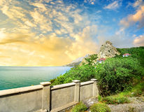 Observation deck on the mountain Iphigenia. In Crimea royalty free stock photography