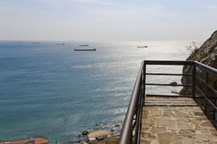 Observation deck over the sea. Stock Photo