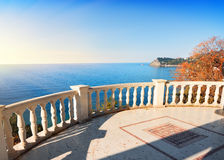 Observation deck over the sea Stock Photo
