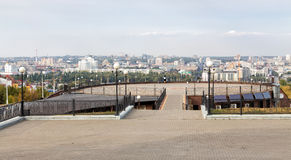 Observation deck overlooking the Belgorod. Russia Royalty Free Stock Photography