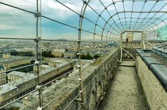 The observation deck on the roof of the Notre-Dame de Paris Stock Photo