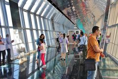 Observation Deck in Shanghai World Financial Center Stock Photography