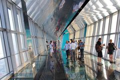 Observation Deck in Shanghai World Financial Center Stock Photo