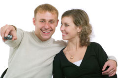 observation des couples TV Images libres de droits