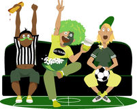 Observation des parties de football Photo stock