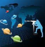 Observation des planètes illustration stock