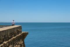 Observation du bord de la mer photographie stock