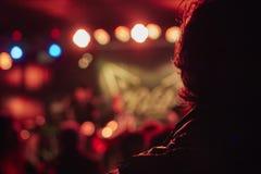 Observation du concert Image libre de droits