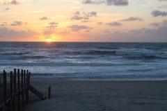 Observation du coucher du soleil Image stock