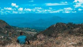 Observation du paysage image libre de droits