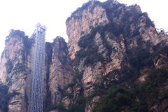 Observation elevator at zhangjiajie Stock Photography