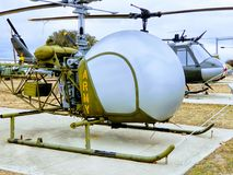 Observation Helicopter at Fort Hood Museum stock images