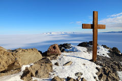 Observation Hill, McMurdo, Antarctica Royalty Free Stock Photos