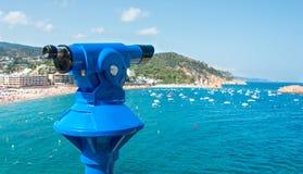 Observation monocular at Tossa de Mar. Costa Brava, Catalonia, Spain Royalty Free Stock Photo
