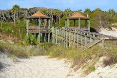 Observation Pavillion on a Beach Walkway. An Observation Pavillion on a Beach Walkway Stock Photo