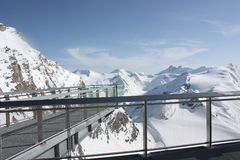 Observation platform on the Kaprun, Austria. Stock Photo
