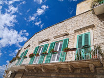Observation Platform in Molfetta Oldtown. Apulia. Stock Photos
