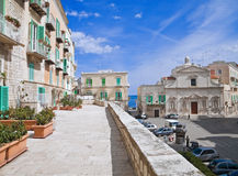 Observation Platform in Molfetta Oldtown. Apulia. Stock Images