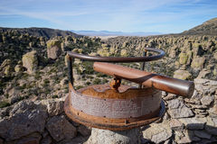 Observation point at chiricahua national monument Stock Photo