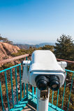 Observation point with telescope Stock Image