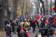 Observation roumaine de défilé de jour national Photo stock