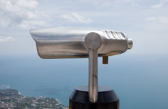 Observation scope for tourists Stock Photo