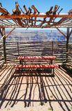 Observation Shelter Grand Canyon Stock Photo
