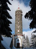 Observation tower atop the mountain Stock Photo