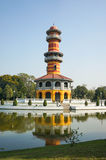 The observation tower in Bang Pa-in palace Stock Photo
