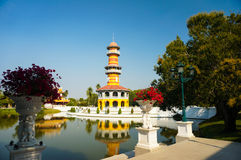 The observation tower in Bang Pa-in palace Royalty Free Stock Photos