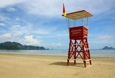 Observation tower on the beach. Of Krabi, Thailand royalty free stock photography