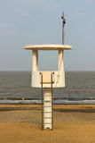 Observation tower on the beach Royalty Free Stock Images