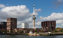 Observation tower Euromast in Rotterdam. Netherlands Royalty Free Stock Photography