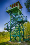 Observation tower. In the forest of steel Royalty Free Stock Image