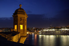 Observation tower Fort St. Michael at night Stock Image