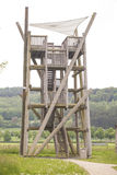 Observation tower for hunters Royalty Free Stock Photography