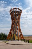 Observation tower in Meteliai regional park, Lithuania Stock Photos