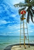 Observation tower on the Pattaya beach Stock Photos
