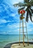 Observation tower on the Pattaya beach Stock Photos