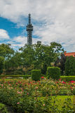 Observation tower on Petrin hill. Built as a mini version of Paris`s Tour Eiffel Royalty Free Stock Photography