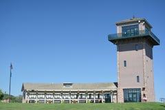 Observation Tower-Sioux Falls South Dakota. View of the Observation Tower in Falls Park in Sioux Falls, South Dakota Stock Photo