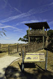 Observation tower on St. Andrews Beach, Jekyll Island, GA Royalty Free Stock Photo