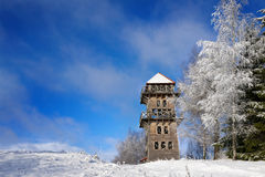 Observation tower Stare Juchy. Observation tower in Stare Juchy. Masuria, Poland stock images