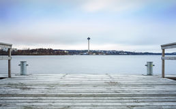 Observation Tower in Tampere, Finland Royalty Free Stock Photos